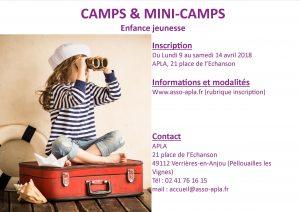 Affiche camps et mini camps